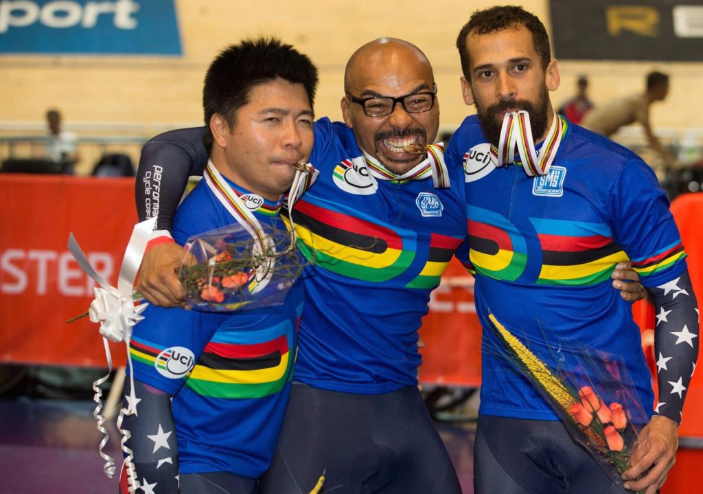 Victory Ceremony - UCI Track Masters World Championships 2015